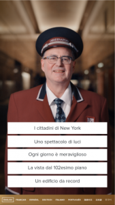 Empire State Building Italian Translation digital concierge